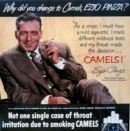 Came Cigarette Advertising in the 1920s