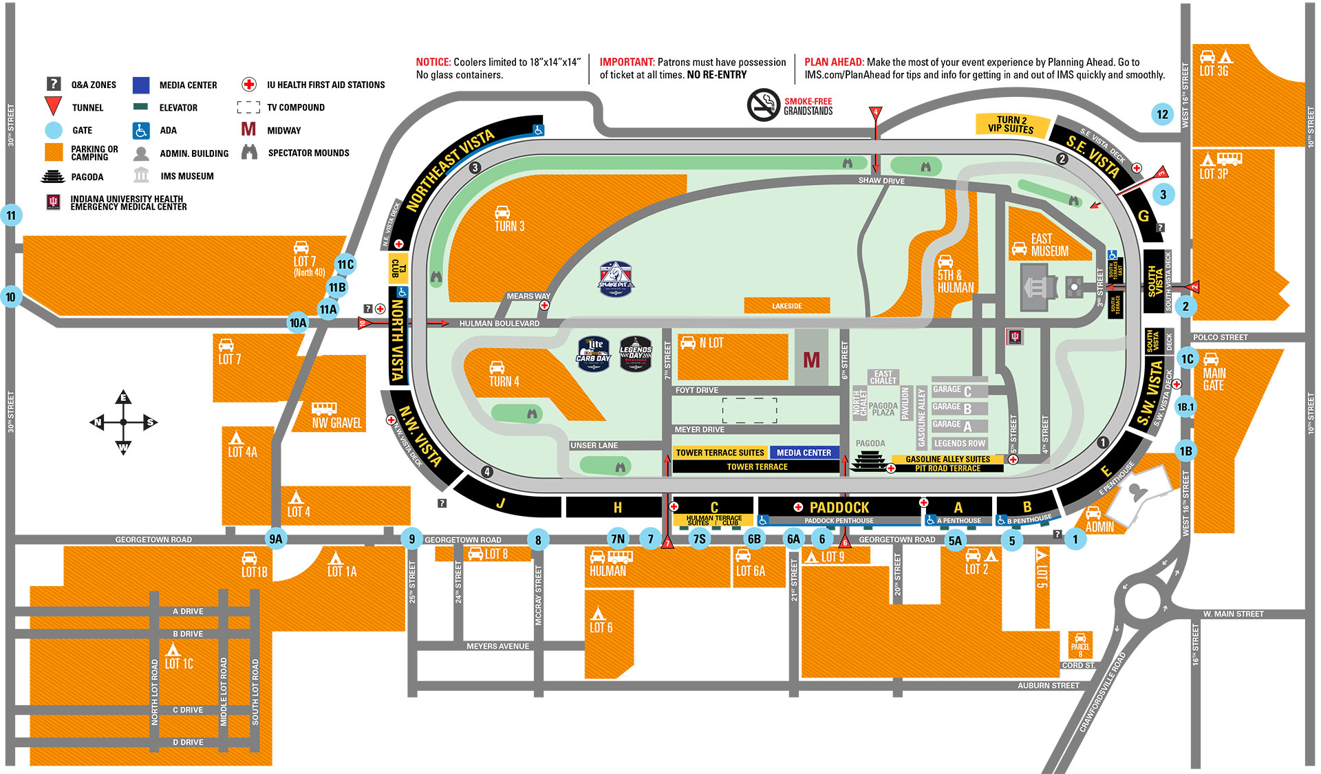 Parking Information for Indy Sdway on