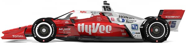 2021 rahal graham HyVee car for 3 events