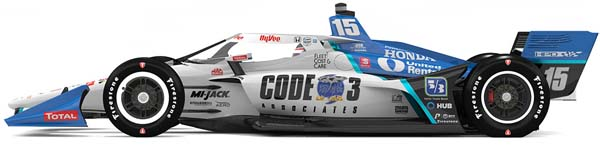 2021 rahal graham  Code 3 car for barber