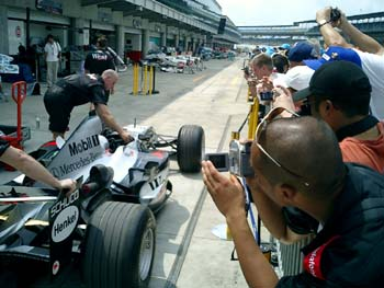 McLaren Mercedes going to the Garage at IMS