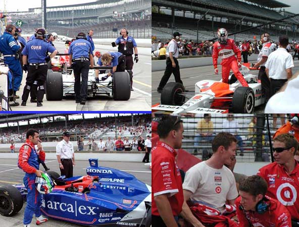 Indy 500 Photos - Dario Franchitti, Sam Hornish, Scott Dixon
