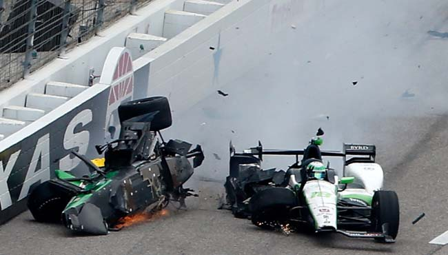 2016 Texas IndyCar Race Crash - Josef Newgarden and Conor Daly