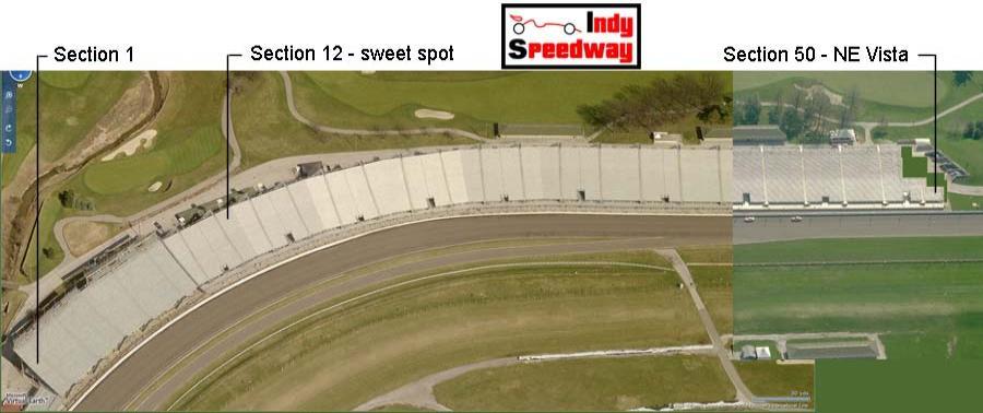 Ne Vista Seating Chart Indy Speedway