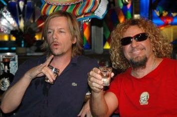 David Spade has as a drink with Sammy Hagar