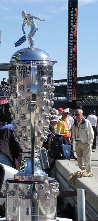 side view of Borg-Warner Trophy photo